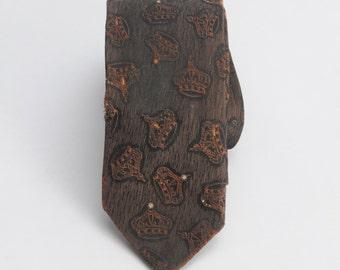 1960's Skinny Tie Crown Royal Necktie