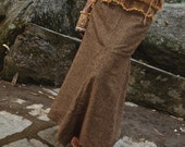 Woolen Long Skirt With Mayan and Aztec Native embroidery
