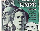 Magnet Tales of Terror Edgar Allen Poe movie poster magnet Vincent Price Basil Rathbone Peter Lorre horror trilogy Debra Paget