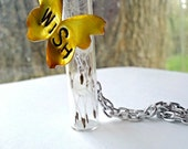 Butterfly Wish Necklace Vial Bottle Jewelry Women Teen Girl Gift Tween