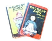 Raggedy Ann Stories and Raggedy Andy Stories, 1920 Illustrated Books
