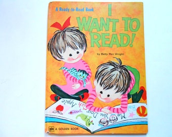 I Want to Read, a Vintage Children's Book, Large Golden Book, Aliki
