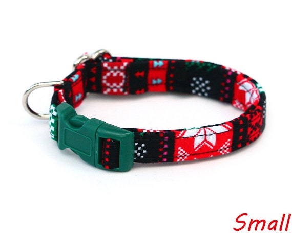 Christmas Sweater Dog Collar (all sizes)