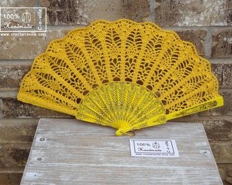 Wedding HAND FAN,Yellow hand fan, Hand Fan, Wedding Accessory, Bride, Feng Shui Gift, Bride Bouquet, Photo prop, Made in America
