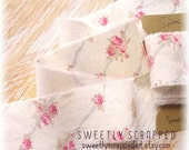 SHABBY ROSE Ribbon, Hand Torn ... Shabby Chic, Frayed, Ripped, Distressed, Worn, Scrapbooking