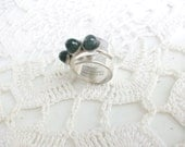 David Andersen Sterling Silver Modernist Ring //
