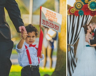 """Made To Order """"Here Comes The Bride"""" Wedding Sign As Seen On Rock N Roll Bride 