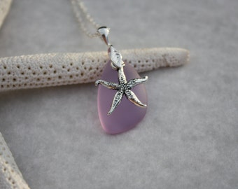 Purple Sea Glass Jewelry Sea Glass Necklace Seaglass Necklace Seaglass Jewelry Wedding Jewelry Bridal Jewelry Bridesmaid Jewelry Hawaii 007