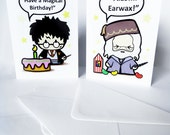 Wizard Harry and Friends - Birthday Cards