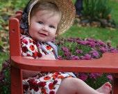 Child Size Victorian Straw Bonnet: Reproduction Poke Bonnet or Spoon Bonnet  Base