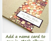 Name Card, Personalization, Add to any Ready-Made Photo Album or Guest Book