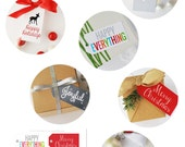 Christmas Holiday Printable Parcel Gift Tag by anna and blue