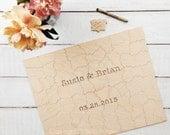 80 pc Wedding Guestbook Puzzle, custom guestbook alternative, WOOD puzzle guest book, Bella Puzzles™, rustic wedding, boho wedding