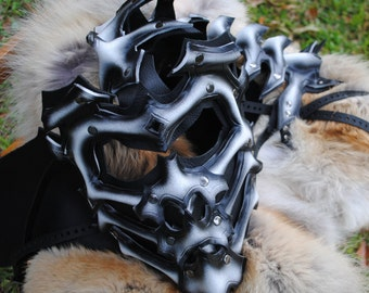 Bone Scorpion Leather Mask - Inspired by Mortal Kombat
