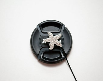 Camera Lens Cap Holder - Lens Cap Leash - DSLR Camera Strap - Camera Accessories - Starfish Gifts - Photographer Gift -  Shining Starfish