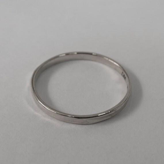 Simple Gold Wedding Band 14k White Gold Ring White Gold