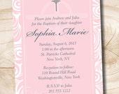 CELTIC CROSS Custom Baptism Invitation / Christening Invitation / Communion Invitation - You Print