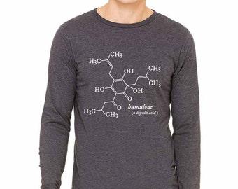 Humulone Molecule   Homebrewer, Craft Beer Geek, Brew Day, Homebrewer, Scientist, Long Sleeve Shirt, Christmas, Birthday, Father's Day Gift