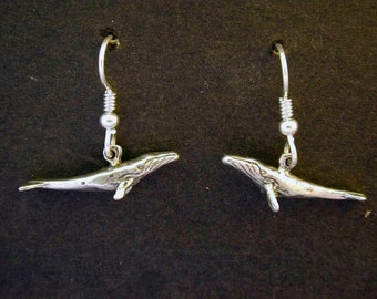 Sterling Silver Humpback Whale Pendant on a Sterling Silver Chain