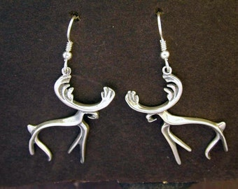 Sterling Silver  Moose Earrings on Heavy Sterling Silver French Wires