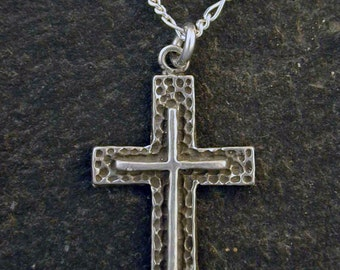 Sterling Silver Cross Pendant on Sterling Silver Chain.