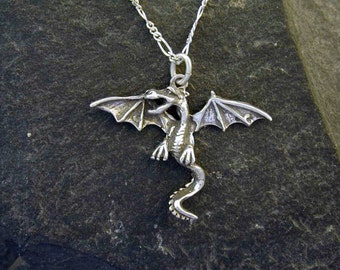 Sterling Silver Dragon Pendant on a Sterling Silver Chain