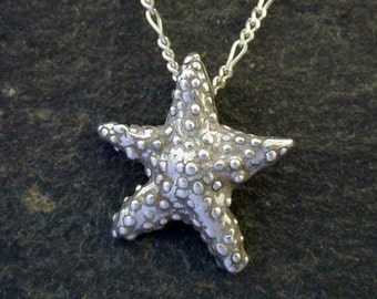 Sterling Silver  Original Sea Star Pendant on a Sterling Silver Chain.