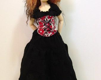 MNF/Minifee/Unoa/Slim MSD Long Black Peasant Skirt