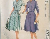 5739 1960's Women's Dress Vintage Sewing Pattern McCall's 5739 Bust 50