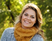 Toasty Warm Knitted Cowl in Golden Rod Yellow- Other colors available