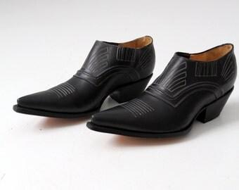 vintage NaNa ankle boots,  NOS men's black shoes,  size 11