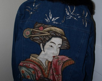 Wearable Art Jacket - Asian style theme - Stunning One of a Kind