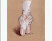 Ballet Shoes. Print and White Mat. Frame Ready. 8x10 or 11x14