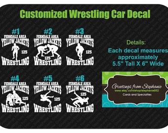 Custom Wrestling Vinyl Car Decal (6 Different Designs!!!)
