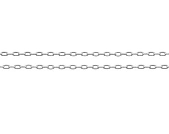 Sterling Silver 1.8x1.1mm Drawn Cable Chain - 100ft Strong and Shiny Made in USA 40% discounted  wholesale quantity (6578-100)/1