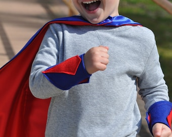 Personalized Superhero Cape Set-  Kids 5 to 7 years