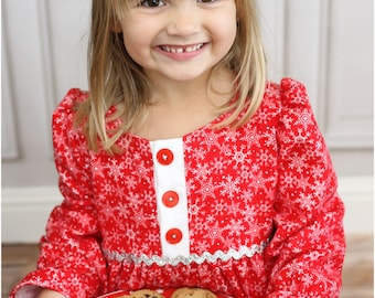 Sugar Plum Nightgown: Girls Nightgown PDF Pattern, Doll Nightgown PDF Pattern, Christmas Pajamas