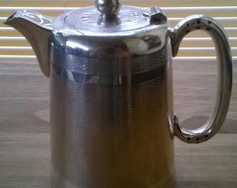 Vintage English Heavy EPNS Silver Plate Teapot Coffee Pot circa 1960's / English Shop