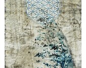 Cathedral of Flight, Flower of Life, Sacred Geometry, Archival Print