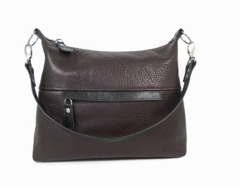 Brown Leather Purse, Leather Hobo Bag, Women's Leather Hobo Handbag, Shoulder Bag, Handmade Leather Bag, Satchel Bag, Leather Hobo Purse