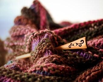 Shawl Pin - Handmade Shawl Pin - Wood Shawl Pin - Hair Stick - Hair Pin - Scarf Pin - Wooden Shawl Pin - Gift for Knitters