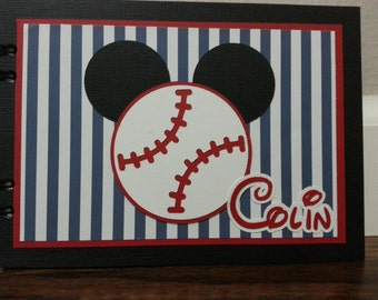 Personalized Disney Baseball Autograph Book