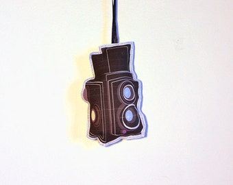 Rolleiflex Camera Ornament- Christmas ornaments- Plush Ornament- Fabric Ornament- Holiday ornament