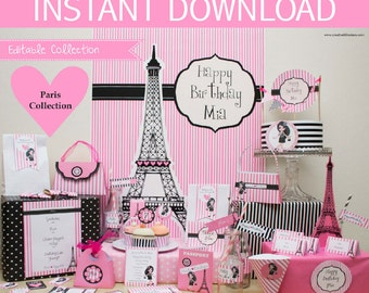 Paris Party Printable Mega Set