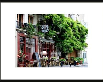 Paris Photography, Paris Cafe, Paris Cafe Art, French Bistro, Parisian Decor, Kitchen Decor, French Wall Art