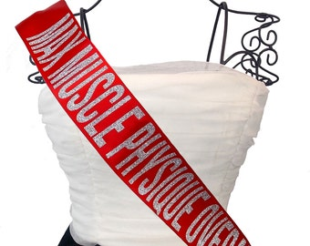 Fitness Competition Sash- Custom Colors
