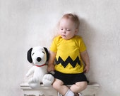 Charlie Brown T-Shirt with Chevron Style Zig Zag FRONT Side Only