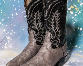 Two Tone COWBOY Boots Men's Size 12 EE Wide