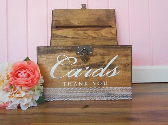 Custom Wedding Accessories Locking Card Box Rustic Wedding Card Box Wood Car