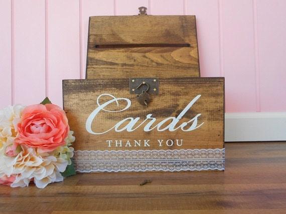 Wedding Accessories Ideas – Wooden Card Box Wedding